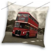 City - London bus díszpárna, 40x40 cm
