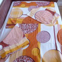 Narancs kisvirágos 3 részes flanel ágyneműhuzat (100 % pamut)
