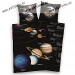 Space/Naprendszer/Bolygós ágyneműhuzat (100% pamut)