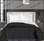 Elegancia ágytakaró, Fekete körös, 240x260 cm (6230)