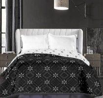 Elegancia Snowynight ágytakaró, Hópehely - Fekete, 240x260 cm (6384)