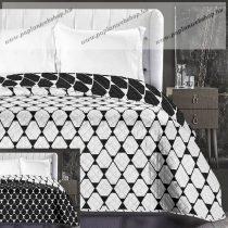 Elegancia Rhombuses ágytakaró, Fekete-fehér, 240x260 cm (6599)