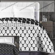 Elegancia Rhombuses ágytakaró, Fekete-fehér, 220x240 cm (6605)