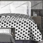 Elegancia ágytakaró, Fekete Háromszög, 240x260 cm (6629)