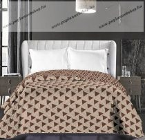 Elegancia ágytakaró, Bézs- barna háromszög, 240x260 cm (6650)
