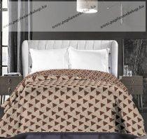 Elegancia ágytakaró, Bézs- barna háromszög, 220x240 cm (6667)