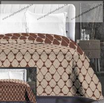 Elegancia Rhombuses ágytakaró, Bézs- barna trapéz, 240x260 cm (6711)
