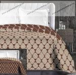 Elegancia ágytakaró, Bézs- barna trapéz, 220x240 cm (6728)