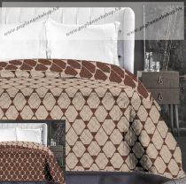 Elegancia Rhombuses ágytakaró, Bézs- barna trapéz, 220x240 cm (6728)