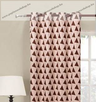 Készfüggöny, Triangles Bordó-bézs, 140x245 cm