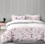 Flanel ágyneműhuzat, Pink/Sweetdreams, 140x200 cm + 70x90 cm (100 % pamut)