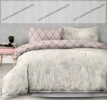 Flanel ágyneműhuzat, Pink virágos/Art, 140x200 cm + 70x90 cm (100 % pamut)
