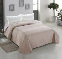 Elegancia DECOR kétoldalas ágytakaró, Capuccino virágos-indás, 220x240 cm (0042)