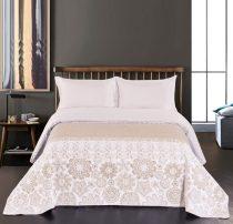 Elegancia Alhambra kétoldalas ágytakaró, White-Beige, 220x240 cm (2512)