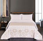 Elegancia ágytakaró, White-Beige, 240x260 cm (2529)