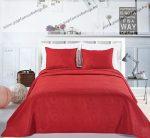 Elegancia ágytakaró, Burgundi, 220x240 cm + 2 db 50x60 cm díszpárnahuzat (2840)