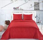 Elegancia ágytakaró, Burgundi, 240x260 cm + 2 db 50x60 cm díszpárnahuzat (2857)