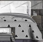 Elegancia ágytakaró, Szürke csíkos/háromszög, 220x240 cm (6216)