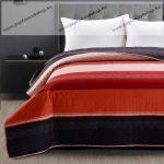 Elegancia ágytakaró, Bordó csíkos, 220x240 cm (6513)