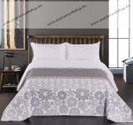 Elegancia ágytakaró, White-Grey, 220x240 cm (7207)