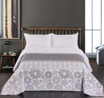 Elegancia Alhambra ágytakaró, White-Grey, 240x260 cm (7214)