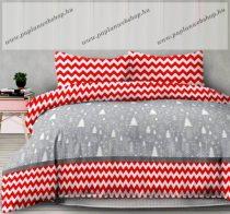 Flanel ágyneműhuzat, Karácsonyi/Christmasmess, 140x200 cm + 70x90 cm (100 % pamut)