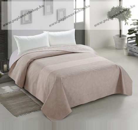 Elegancia DECOR kétoldalas ágytakaró, Capuccino virágos-indás, 240x260 cm (0059)