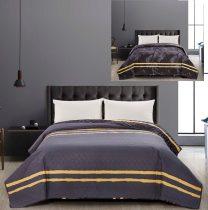 Elegancia kétoldalas ágytakaró, Tropical/Szürke, 240x260 cm (0928)