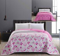 Elegancia kétoldalas ágytakaró, Sweetdreams/Pink virágos-madárkás, 240x260 cm (2756)