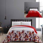 Elegancia BOHO kétoldalas ágytakaró, Bordó-fehér mintás, 170x210 cm (5871)