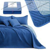 Elegancia SOFTA kétoldalas ágytakaró, Sötétkék/égkék, 220x240 cm (7307)