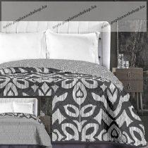 Elegancia ágytakaró, Fekete levélmintás, 170x210 cm