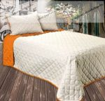 GINA ágytakaró, caffé latte-narancs, 210x240 cm