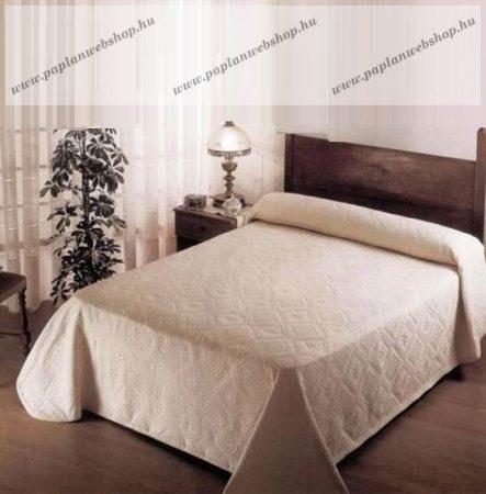 Pamut ágytakaró, Világosbarna, 240x260 cm