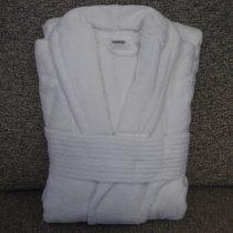 Frottír sálgalléros Fehér köntös (100 % pamut), XL