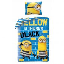 Minions/Minyonok ágyneműhuzat, Yellow is the new Black (100% pamut) (0426)