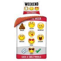Smiley/Emoji ágyneműhuzat (100% pamut)