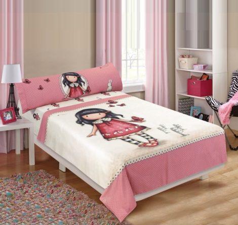 Santoro Gorjuss prémium ágynemű szett (párnahuzat, lepedő, lepedő/ágytakaró) (100 % pamut)