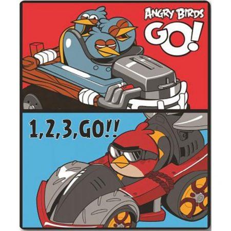 Angry Birds pléd/ótakaró, Go, 120x150 cm