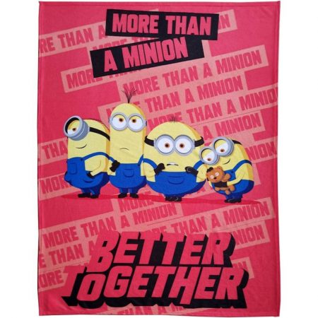 Minions pléd/ótakaró, Better Together, 130x170 cm