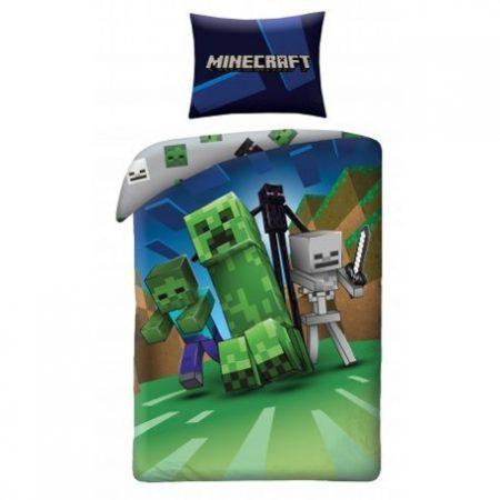 Minecraft ágyneműhuzat garnitúra, Creeper zöld (100 % pamut) (199)