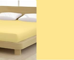Jersey gumis lepedő, 180-200x200 cm, 135 g/nm, Gold/Sárga (214)- Mr Sandman