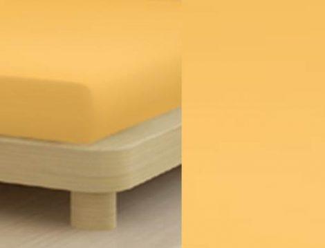 Jersey gumis lepedő, 90-100x200 cm, 135 g/nm, Sárga- Mais (218)- Mr Sandman