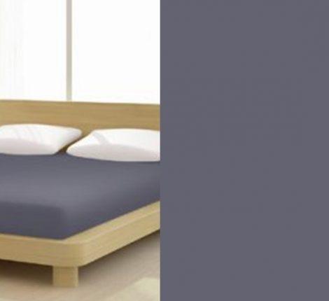 Jersey gumis lepedő, 90-100x200 cm, 135 g/nm, Antracit szürke (227)- Mr Sandman