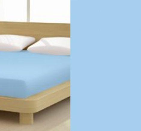 Jersey gumis lepedő, 180-200x200 cm, 135 g/nm, Kék-világos (232)- Mr Sandman
