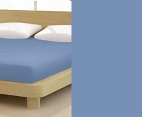 Jersey gumis lepedő, 180-200x200 cm, 135 g/nm, Kék (233)- Mr Sandman