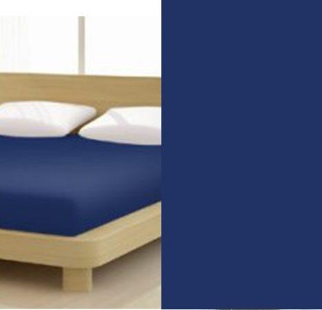 Jersey gumis lepedő, 90-100x200 cm, 135 g/nm, Kék-Sötét (238)- Mr Sandman