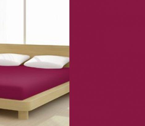 Jersey gumis lepedő, 140-160x200 cm, 135 g/nm, Brombeer/Sötétpink (248)- Mr Sandman