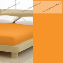 Jersey gumis lepedő, 90-100x200 cm, 135 g/nm, Orange (265)- Mr Sandman