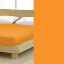 Jersey gumis lepedő, 180-200x200 cm, 135 g/nm, Orange/Narancs (265)- Mr Sandman